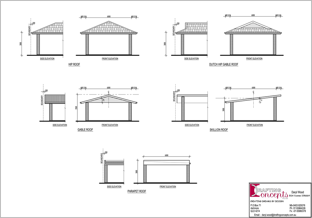 drawing plans a carport